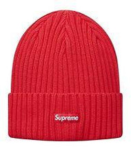 Supreme Overdyed Ribbed Beanie Red