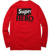 Supreme Anti Hero Long Sleeve Tee Red