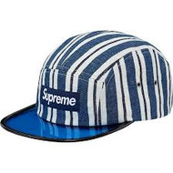 Supreme Blue Angler Camp Cap Navy Stripe