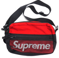 Supreme Logo Shoulder Bag Red