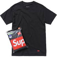 Supreme Hanes Tagless T-Shirt Black (3 pack)