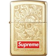 Supreme Engraved Zippo Brass