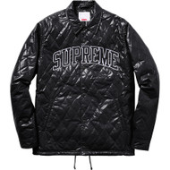 Supreme Quilted Coaches Jacket Black