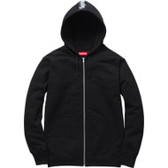 Supreme Logo Tape Zip Up Black