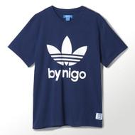 Adidas By Nigo 25 Terfoil Logo Tee Navy