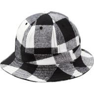 Supreme Buffalo Check Bell Hat Black/White S/M
