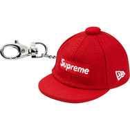 Supreme New Era Keychain Red