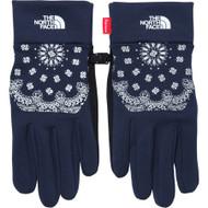 Supreme / The North Face Bandana Etip Gloves Navy Large