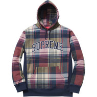 Supreme Plaid Pullover Navy Size Medium