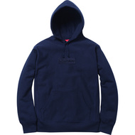 Supreme Box Logo Pullover Hoodie Navy