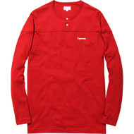 Supreme Split Mesh Henley Red