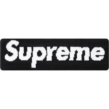 Supreme New Era Big Logo Headband Black - Curatedsupply.com