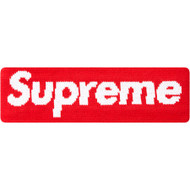 Supreme New Era Big Logo Headband Red