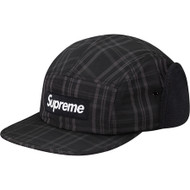 Supreme Lined Ear Flap Camp Cap Black S/M