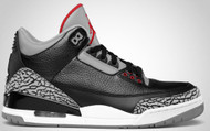 Air Jordan 3 Retro Black / Varsity Red-Cement Grey Size 8.5