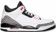 Air Jordan 3 Retro White / Black - Cement Grey- Infrrd 23 Size 8.5
