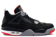 Air Jordan 4 Retro Black / Cement Grey - Fire Red Size 8.5