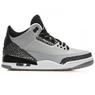 Air Jordan 3 Retro Wolf Grey / Metallic Silver-Black-White Size 8.5