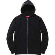 Supreme Hooded Foil Logo Zip Up Black