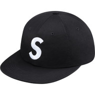 Supreme S-Logo 6 Panel Black