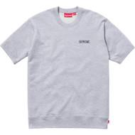Supreme Short Sleeve Logo Crewneck Grey