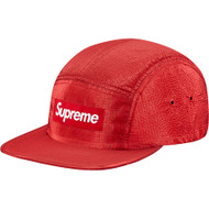 Supreme Iridescent Ripstop Camp Cap Red