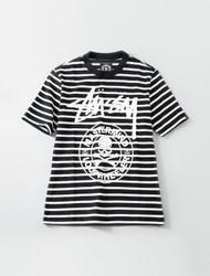 Stussy Mastermind Loopwheeler Stripe Tee Black/White