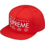 Supreme International 5-Panel Red Hat