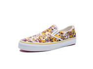 Vans Vault Classic Slip-On XL Murakami Skull Yellow Size: Men US 4.5 Women US 6