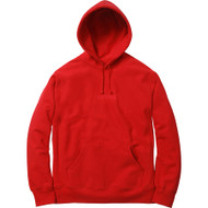 Supreme Tonal Embroidered Hooded Sweater Red