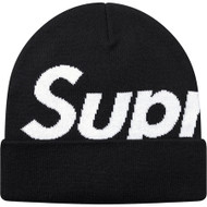 Supreme Big Logo Beanie Black