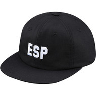Supreme ESP 6-Panel Cap Black