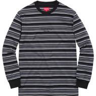 Supreme Multi Stripe Long Sleeve Top Black