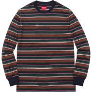 Supreme Multi Stripe Long Sleeve Top Dark Green