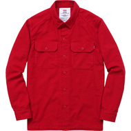 Supreme Moleskin Army Shirt Red