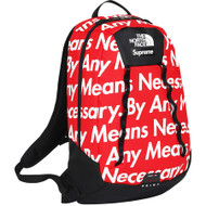 Supreme / North Face Base Camp Crimp Red Backpack By Any Means Necessary