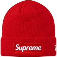 Supreme New Era Box Logo Beanie Red World Famous