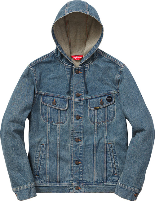 Supreme Hooded Denim Jacket - curatedsupply.com