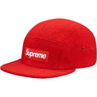 Supreme Harris Tweed Camp Cap Red