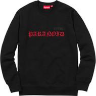 Supreme Black Sabbath Paranoid Crewneck Black