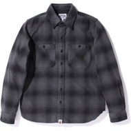 Bape Flannel Dark Grey