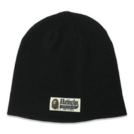 A Bathing Ape World Gone Mad Black Beanie O/S