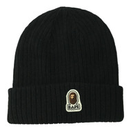 A Bathing Ape Bape Beanie Black O/S