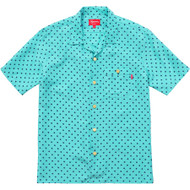 Supreme Polka Dot Silk Shirt Teal