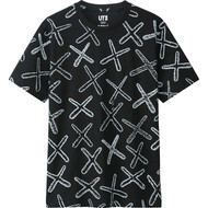 KAWS X All Over Tee Black