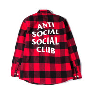 Anti Social Social Club No Expectations Flannel Red
