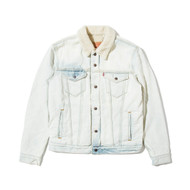 Supreme Levi's Bleached Sherpa Trucker Jacket