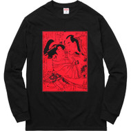 Supreme Sasquatchfabrix Shunga Long Sleeve Tee Black