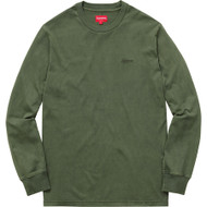 Supreme Overdyed Long Sleeve Tee Olive