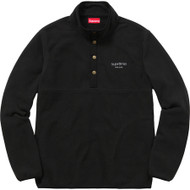 Supreme Polartec Fleece Color Blocked Half Snap Black